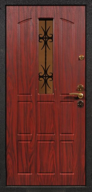 железные двери для квартиры со стеклом