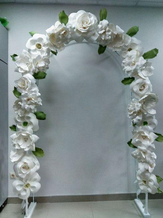 438f6b9318b92 Свадебная арка, ростовые цветы, большие бусы купить, цена: 200.00 ...